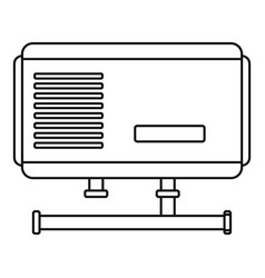 Electric boiler icon outline style vector