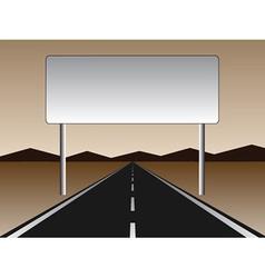 empty road - empty billboard vector image vector image