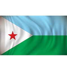 Flag of Djibouti vector image