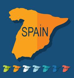 Flat design Spain vector