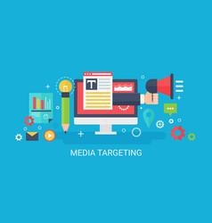 flat modern concept media targeting banner vector image