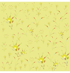 Floral background yellow motley childhood vector image