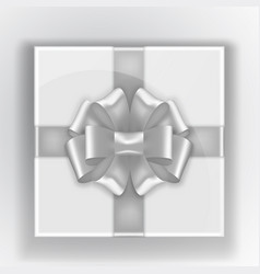 gift box top view gray tape on box vector image