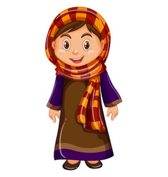 Girl in irag costume vector