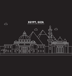 Giza silhouette skyline egypt - giza city vector