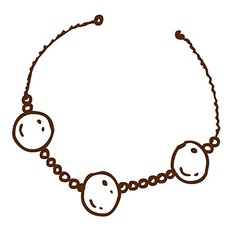 hand drawn necklace vector image