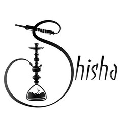 Hookah silhouette for relaxation vector