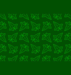 Ivy leaf pattern vector