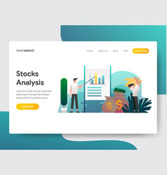 landing page template stock analysis concept vector image