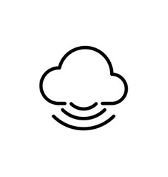 line cloud icon on white background vector image
