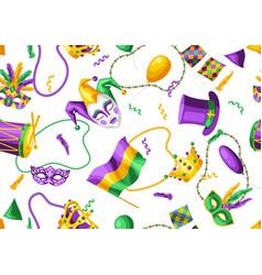 Mardi gras party seamless pattern vector