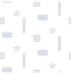 Memphis style seamless pattern with vector image