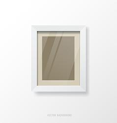 Modern white frame vector