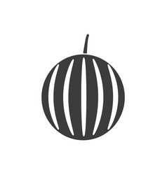monochrome isolated watermelon icon on white vector image