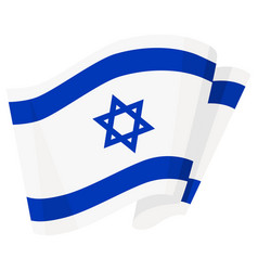 national patriotic symbol white blue israel vector image