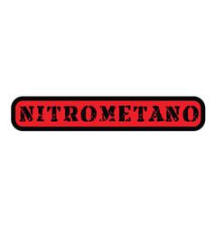 Nitromethane stamp in spanish vector