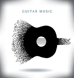 Note Guitar vector image