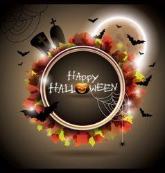 On a Halloween theme with moon vector