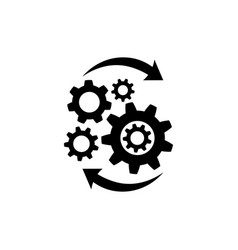 Operations icon in flat style isolated on white vector