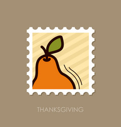 pear stamp harvest thanksgiving vector image