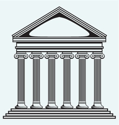 Portico an ancient temple Bank Colonnade vector