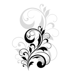Pretty swirling foliate design element vector