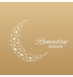 Ramadan greetings background Luxury gold vector