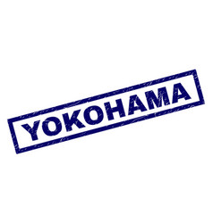 Rectangle grunge yokohama stamp vector