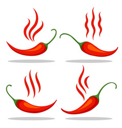red tabasco pepper icons vector image