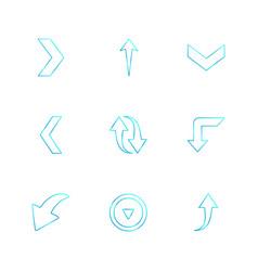 Reset upload down arrows directions left vector