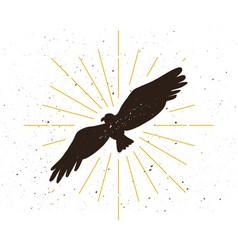 retro eagle silhouette logo vector image