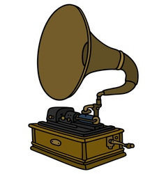 Retro horn gramophone vector