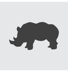 Rhinoceros icon vector