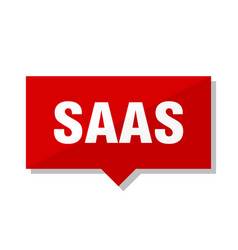 Saas red tag vector