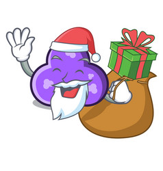 Santa with gift trefoil mascot cartoon style vector