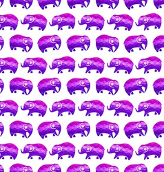 Seamless pattern with elephants vector