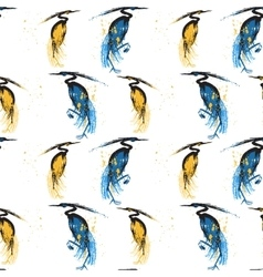 Seamless pattern with herons vector