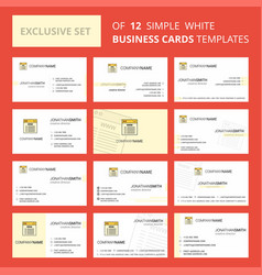 set of 12 website creative busienss card template vector image