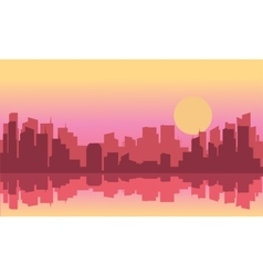Silhouette of a beautiful city vector image