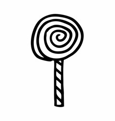 spiral lollipop vector image