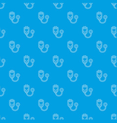 stethoscope pattern seamless blue vector image