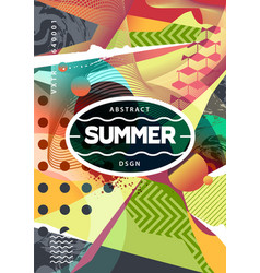 Summer abstract background with mixed textures vector