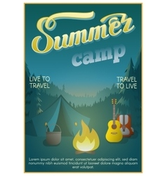 Summer Camp Poster vector