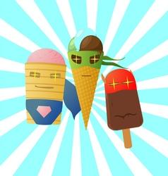 super ice cream vector image vector image