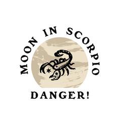 Text boho astrology zodiac sign scorpio logo vector