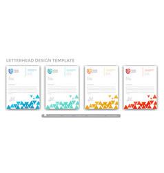 Triangle colorful letterhead design concept vector