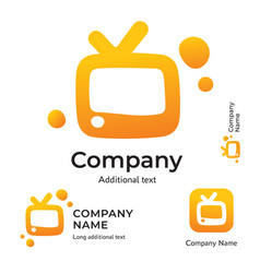 tv logo modern identity for television brand and vector image