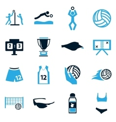 Volleyball icon set vector image