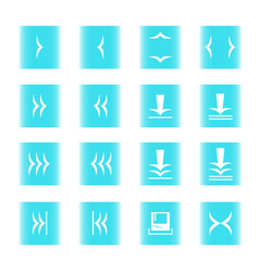 web icon 16 blue white vector image