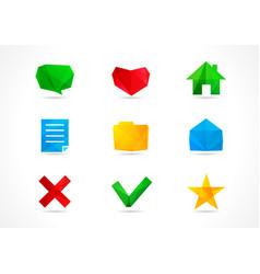 web icons arts vector image